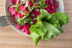 Salat, rote Rübe lizenzfreie stockfotos