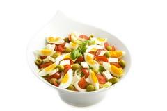 Salat sabroso con el huevo Imagen de archivo