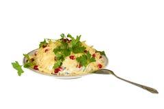 Salat-Teller lizenzfreies stockfoto