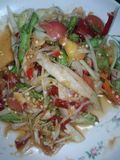 Salat thaïlandais épicé de papaye Photo libre de droits