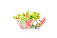 Salat with tomato and cheese in a bowl Stock Photos