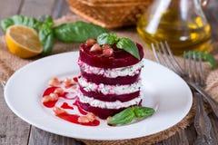 Salat und Feta der roten Rübe Stockbilder