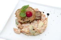 Salat- und Fischrogen lizenzfreie stockbilder