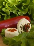 Salat und Frischkäse Lizenzfreie Stockbilder