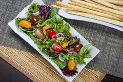 Salat und grissini Lizenzfreie Stockfotografie