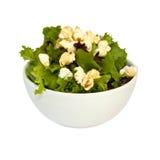 Salat und Popcorn Lizenzfreie Stockfotos