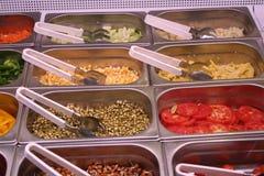 Salat- und Vegetarierdiäten Indien Stockbild