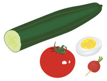 Salat verschieden Lizenzfreie Stockfotos