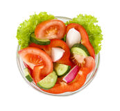 Salat vom Gemüse auf einem weißen Hintergrund Lizenzfreies Stockbild
