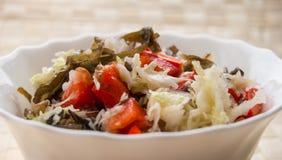 Salat vom Kohl und von einem Paprika Lizenzfreies Stockfoto