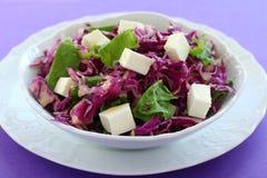 Salat vom Rotkohl. Stockfotos