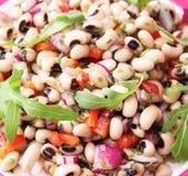 Salat von Bohnen des blauen Auges Lizenzfreie Stockfotografie