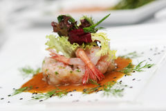 Salat von den essbaren Meerestieren Lizenzfreie Stockfotos