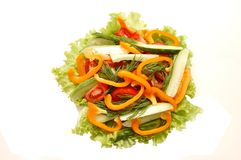 Salat von den Gurken, Tomaten Stockbild