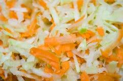Salat von einem Rettich und von den Karotten Lizenzfreies Stockfoto
