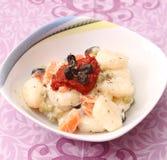 Salat von Gnocchi Stockfotos