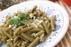 Salat von grünen Bohnen stockfotos