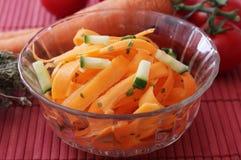 Salat von Karotten stockfoto