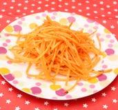 Salat von Karotten lizenzfreie stockfotos