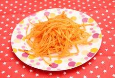 Salat von Karotten lizenzfreie stockbilder