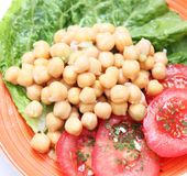 Salat von Kichererbsen Stockfoto