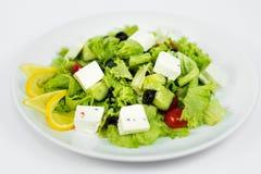 Salat von Kohl und Käse fetaksa stockfotografie