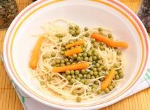 Salat von Nudeln Lizenzfreies Stockbild