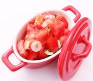 Salat von Tomaten Lizenzfreie Stockfotos