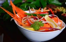 Salat, zum des indischen Hauptgerichtes zu begleiten stockbilder
