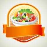 Salataufkleber Stockbild