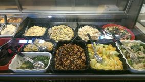 Salatbar Stockbild