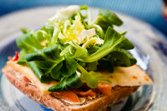 Salatbrot stockbilder