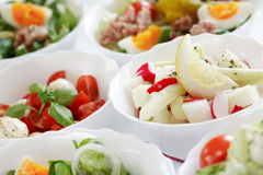 Salatbuffet Stockfoto
