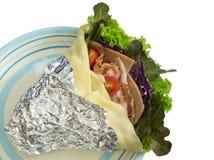 Salatkrepp mit Schinkenspeck und -gemüse Stockbilder