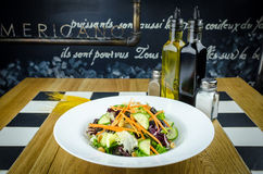 Salatlebensmittelteller, Vegetarier Lizenzfreies Stockfoto
