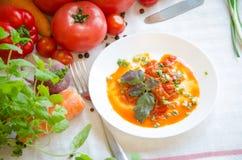 SALATpfeffer-Tomatenkarotte Lecho Gemüse Lizenzfreies Stockbild