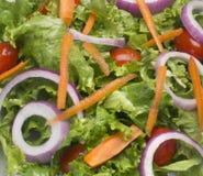 Salatplattennahaufnahme Stockbild