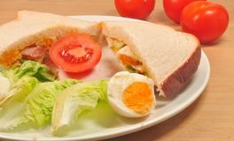 Salatsandwich Stockfoto