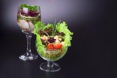 Salatschüsseln Stockfotos