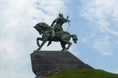 Salavat Ulaev纪念碑在从俄罗斯的乌法 免版税库存照片