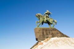 Salavat Yulaev i den Ufa avståndsbilden i snö Royaltyfri Bild
