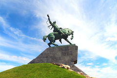 Salavat yulaev monument in ufa russia Stock Photography