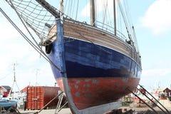 Salboat nell'ambito della riparazione fotografia stock libera da diritti