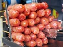 Salchicha de cerdo dulce taiwanesa asada a la parrilla foto de archivo