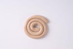 Salchicha de cerdo espiral Imagen de archivo