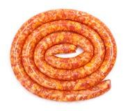 Salchicha de cerdo fina tradicional Imagen de archivo libre de regalías