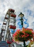 Salchicha de Francfort Riesenrad (rueda gigante de Viena Ferris) Imágenes de archivo libres de regalías