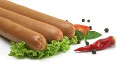 Salchicha de Francfort, salchicha para el perrito caliente Imagen de archivo libre de regalías