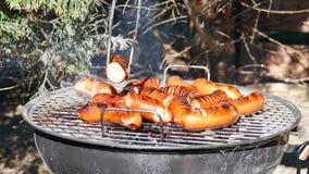 Salchicha de la barbacoa Foto de archivo libre de regalías