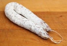 Salchicha francesa del salami del cerdo Imágenes de archivo libres de regalías